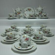 Rosenthal Maria Sommerstrauß Kaffeeservice für 12 Pers.Porzellan weiß mit Blumen