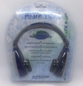 GPX AHP1500BI Blue Ice AM FM Headphone Radio BRAND NEW & SEALED FREE SHIPPING