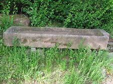 Schöner alter, großer, roter Sandsteintrog Blumentrog Brunnentrog Tränke 220 cm