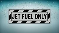 Sticker decal car airplane aircraft airport helicopter jet fuel only R2