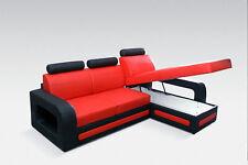 Design Canapé D'Angle pour Dormir Lit Cuir Rembourrage Tissu Canapés Neuf Sofa