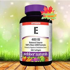Webber Naturals Vitamin E 400 IU, 300 Softgels - Antioxidant support