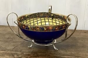 Art Nouveau Silver Plate Flower Bowl