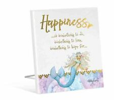 French Country Vintage Inspired Wooden MERMAID HAPPINESS to Love Sign New