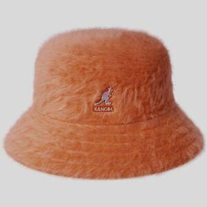 Kangol Fire Opal Orange Fuzzy Angora Fur Furgora Bucket Hat NWT L