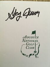 GAY BREWER SIGNED AUTOGRAPHED MASTERS WINNER AUGUSTA SCORECARD BECKETT AUTHENTIC