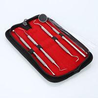 4PCS Stainless Steel Dental Set Dentist Teeth Kit Oral Clean Probe Tweezers Tool