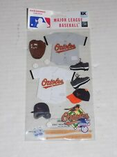 New in Package MLB Scrapbooking Sticker Set Baltimore Orioles
