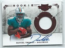 2011 Plates & Patches Daniel Thomas PRIME PATCH RELIC AUTO RC #220 109/499