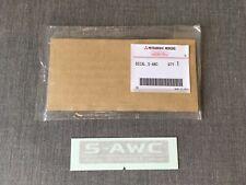 Mitsubishi Genuine S-AWC Gray Rear Glass Decal Sticker for Lancer Evolution X