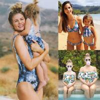 Family Matching Swimsuit Mother Daughter Kid Baby Women Girl Bikini Set Swimwear