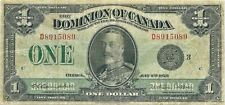 Dominion Of Canada $1 1923 Black Seal Group 3 King George V Nice Collector Grade