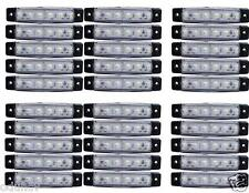 30 Teile Weiß 24V 6 LED SEITLICH VORNE Marker Blinker Lichter MANN DAF SCANIA