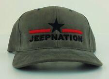 JEEP NATION HAT Men's Adjustable JEEP Baseball Cap Hat - Grey Star JK RUBICON