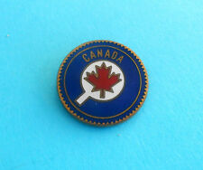 CANADA TABLE TENNIS FEDERATION - nice old rare enamel pin badge