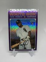 LUIS ROBERT 2020 TOPPS HERITAGE HIGH NUMBER HOT BOX PURPLE REFRACTOR THC-512 RC
