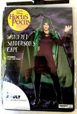 Disney Hocus Pocus Winifred Sanderson CAPE Halloween Costume  NEW