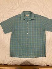 New listing Vintage Weinstock'S Loop-Collar Shadow-Plaid S.S. Shirt