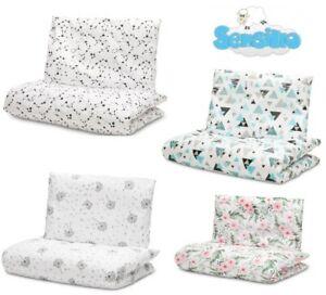 2 pcs Baby Bedding Set Cot Bed Junior Bed Duvet Cover Pillowcase 135x100 cm
