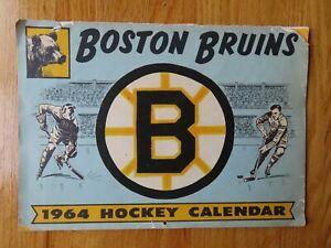 Rare 1964 BOSTON BRUINS Calendar MILT SCHMIDT JOHN BUCYK TED GREEN LEO BOIVEN