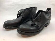 Vintage 1965 Vietnam Fellman Military Army  Black Leather Dress Shoes Mens 10