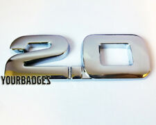 NEW Chrome Metal 2.0 Car Badge Numbers VW