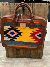 Will Leather Goods Geometric Aztec Stripe Oaxacan Briefcase  NWT