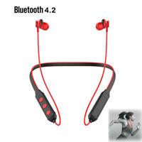 Sport Bluetooth 4.2 Headphones Wireless Neckband Earbuds In Ear Headset Magnetic