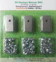 Genisys® Automower Klingen 60+3 St. 0,75mm/3,1g Husqvarna® Gardena® R70Li R40Li