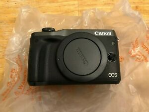 Canon EOS M6 24.2MP Digital Camera - Black (Body Only) MINT - With BOX + EXTRAS
