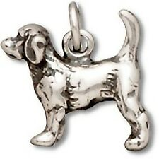 Beagle Dog Charm Sterling Silver Pendant 3d Animal Pet Puppy