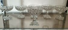 6 Coupes Champagne En Cristal Taillé Epoque Restauration Baccarat ou le Creusot?