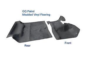 Vinyl Flooring for Nissan Patrol GQ LWB Y60 Front & Rear Moulded Rubber in Grey