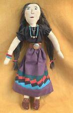 Native American Southwest Navajo Cloth Doll Bead Necklace Bracelet Earrings Belt