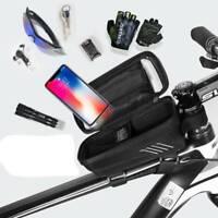 Bicycle Front Top Tube Frame Bag MTB Cycling Bike Waterproof Phone Holder Case