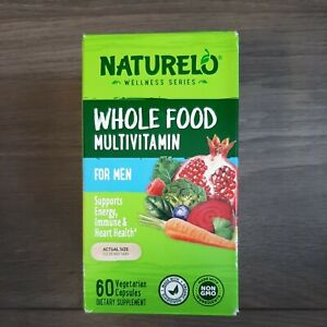 NATURELO Whole Food Multivitamin for Men - 60 Capsules EXP: 04 & 05/2023 NIB