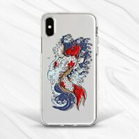 Japanese Koi Fish Water Wave Aesthetic Case For iPhone 6 7 8 Xs XR 11 Pro SE