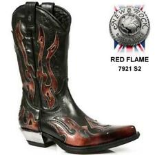New Rock Zip Cowboy Boots for Men