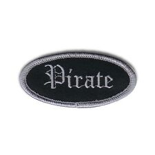 Name Tag Pirate Novelty Embroidered Iron On Badge Applique Patch FD
