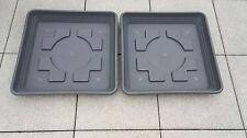 2 Untersetzer für Pflanzkübel NORA quadratisch 58x58 cm Kunststoff anthrazit