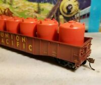 Athearn rnd 14816 Union Pacific 50' gondola car, HO canister load rtr 697078