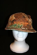 Union made VANS Yamaha/Polaris Camouflage snapback adjust HUNTING FISHING HATCAP