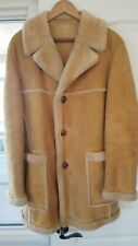 Mens Sawyer of Napa Sheepskin Shearling Coat Jacket Size 42 ~ Marlboro Man