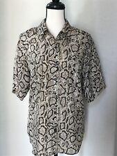 Compagnie Internationale Whistles Woman's 100% Silk Button Down Shirt Size M EUC