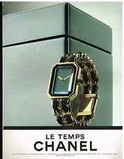 Publicité Advertising 1987 Montre Le Temps Chanel