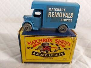 MATCHBOX 1- 75  SERIES NO17A  BEDFORD REMOVAL VAN + BOX IN ORIGINAL CONDITION