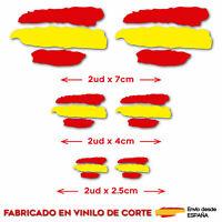6 X BANDERA ESPAÑA VINILO ADHESIVO PEGATINA STICKER COCHE MOTO CASCO TUNING
