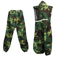 Bee Protecting Equipment Camouflage Beekeeping Protective Suit Jacket Pant Veil