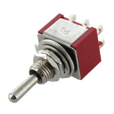 Mini Toggle Switch DPDT ON-ON Two Posizione Rosso 2A 250V 5A 120V V5A6 N1R7
