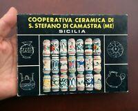 Vintage 1978 Italian Ceramic Catalog S. Stefano Di Camastra Pottery Co-Operative
